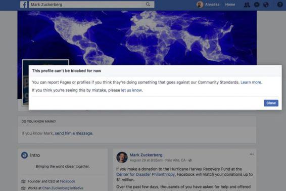 Mengapa Mark Zuckerberg Tidak bisa Diblokir di Media Sosial Facebook ?